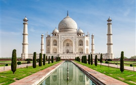 壁紙のプレビュー インド、タージ・マハル、城への旅