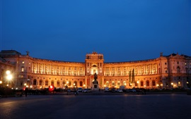 Preview wallpaper Wien Hofburg Palace at night