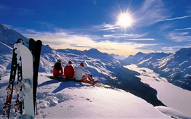 Preview wallpaper Winter sports, snowboard