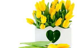 Preview wallpaper Yellow tulip flowers, bouquet
