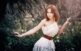 Preview wallpaper Young lovely girl, nature