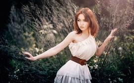 Vorschau des Hintergrundbilder Junge schöne Mädchen, Natur
