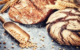 Bread, wheat, grain, food photography