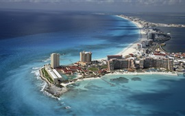 Cancun, Mexico, city, beach, coast, sea, island