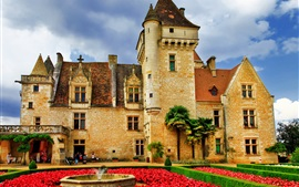 Preview wallpaper Castle, flowers, garden