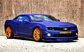 Preview wallpaper Chevrolet Camaro blue car
