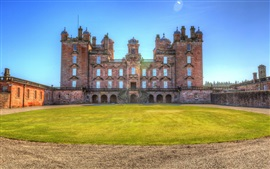Preview wallpaper Drumlanrig Castle, lawn, Scotland