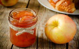 Fruit, apple, jam