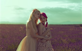 Preview wallpaper Girlfriend, two girls