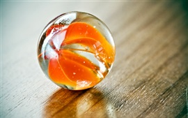 Glass ball, orange colors