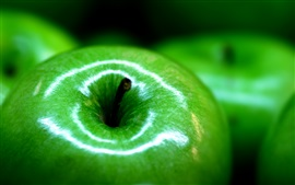 Preview wallpaper Green apple macro photography