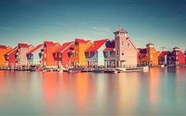 Preview wallpaper Holland, river, houses