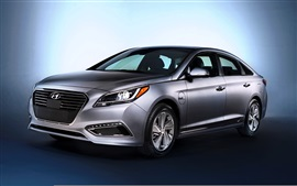 Preview wallpaper Hyundai Sonata silver color car