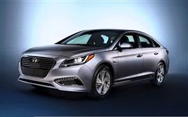 Aperçu fond d'écran Hyundai Sonata voiture couleur argent