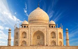 미리보기 배경 화면 인도 여행 장소, Taj Mahal