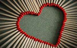 Vorschau des Hintergrundbilder Liebe Herzen und Streichhölzer