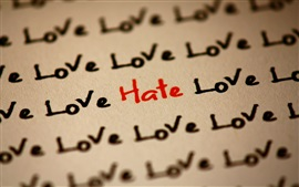 Many love and only hate