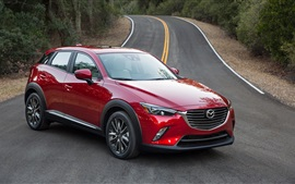 Preview wallpaper Mazda CX-3 red SUV car
