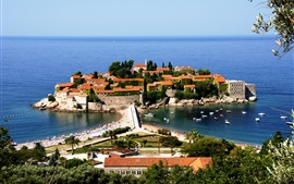Preview wallpaper Montenegro, Adriatica, hotel, sea, boats