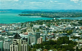 New Zealand, Auckland, city, bay, houses