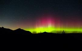 Luces del norte, noche, estrellas
