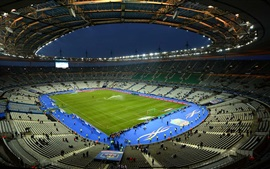 Preview wallpaper Paris, stadium at night, France