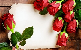 Preview wallpaper Red rose flowers, romantic, paper