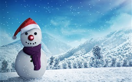 Preview wallpaper Snowman, winter, snow, New Year