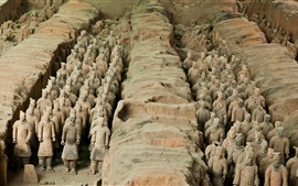 Preview wallpaper The Terracotta Army, China cultural attractions