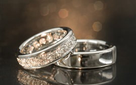 Preview wallpaper White gold diamond rings