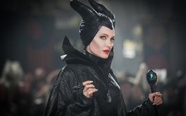 Preview wallpaper Angelina Jolie, black dress witch, Maleficent