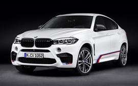 BMW F16 X6 M белый автомобиль вид спереди
