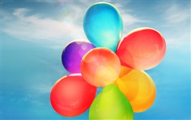 Preview wallpaper Balloons, colorful colors, sky