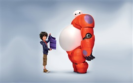 Big Hero 6, robot y chico
