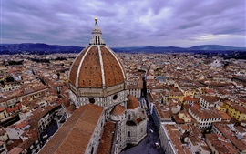 Cathedral, Italy, Florence, city, street