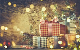 Preview wallpaper Christmas, balls, gifts, decoration, glare