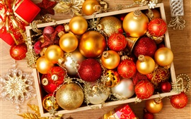 Preview wallpaper Christmas balls, holiday, decorations, New Year