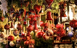 Preview wallpaper Christmas decoration, toys, balls, shop