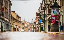 Город, улица, дома, Литва, Каунас