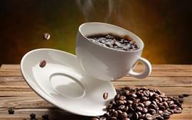 Aperçu fond d'écran Problèmes de café, tasse, éclaboussure