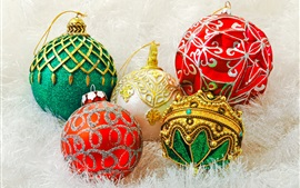 Colorful Christmas balls, decoration, New Year