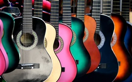 Preview wallpaper Colorful guitars
