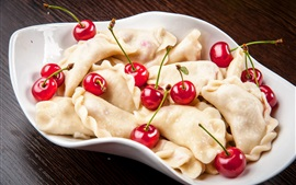 Preview wallpaper Dumplings and cherry