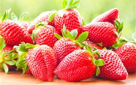 Preview wallpaper Fresh strawberries macro photography, delicious fruit