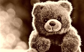Furry toys, teddy bear