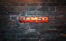 Aperçu fond d'écran Gamer, mur, design créatif