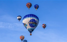 Preview wallpaper Hot air balloons, blue sky