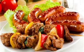 Kebab, meat, food