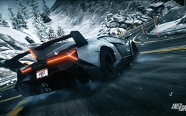Preview wallpaper Lamborghini Veneno supercar rear view, Need for Speed