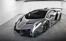 Lamborghini silver supercar